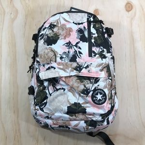 Converse Pink Floral & Olive Green Backpack